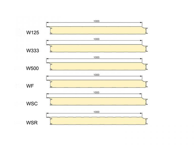 PUR Sandwich Panel Topway Steel 2D Wall 800