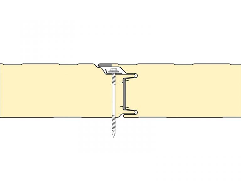 PUR Sandwich Panel Topway Steel 2D Wall Joint 800
